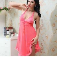 Quality QH6008 Red/Yellow/purple/black/rose/Royal/pulse sleepwear ROSE nightwear women skirts for sale