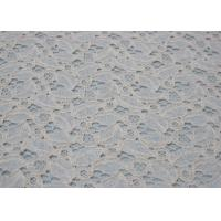 China Ivory Cotton Nylon Lace Anti-Static Fabric For Dresses OEM / ODM CY-LW0707 on sale
