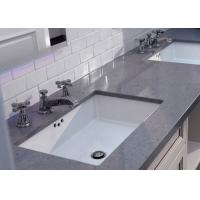 Square Sink Black White Quartz Bathroom Countertops High Hardness OEM/ODM