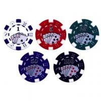 Quality Casino Gambling Sticker Printed and 3D Poker Chips Poker Chip Sets Clay or ABS Poker Chips for sale
