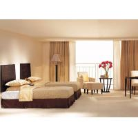 Buy cheap Ebony Wooden Finished Hotel Bedroom Furniture With Modern Twin - Bed from Wholesalers