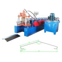 Quality Full Automatic Roll Forming Machine , Galvanized Sheet Ridge Cap Machine Total Power 8kw for sale