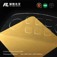 Quality 4mm High Gloss Scratch Resistant Acrylic Sheet Pass R.C.A Test , Innovative Coating Ability for sale