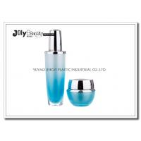 Quality Gradient Blue Empty Lotion Containers Capacity 30 Ml Bottle Height 130 Mm for sale