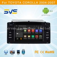 Quality Android 4.4 car dvd player GPS navigation for Toyota Corolla 204-2007 with dvd usb sd swc for sale