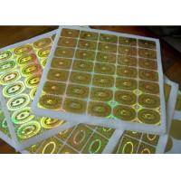 Quality Round Circle Security Hologram Sticker Permanent Adhesive Waterproof for sale