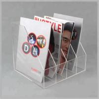 China Transparent Acrylic Brochure Holders Custom Design Acrylic Flyer Stand on sale