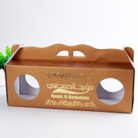 Quality Gloss Varnish Custom Corrugated Boxes Height Weight Capacity Flexible With Window for sale