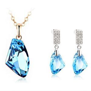 Quality Jewelry set made with Swarovski elements TJ0080 for sale