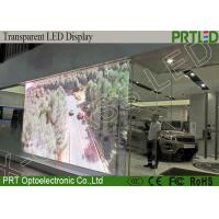 Quality Shop Mall Advertising Transparent Video Glass Screen LED P3.91 Hight Resolution for sale