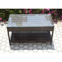 China High Intensity Balcony Rectangular Plastic Rattan Table With Store on sale