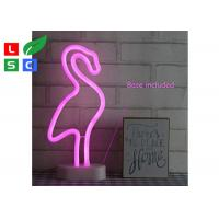 China Countertop Desktop LED Channel Letter Signs Custom Led Neon Signs With Metal Table Stand on sale