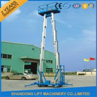 Quality 12m Hydraulic 2 Post Aluminum Alloy Man Lift Rental For Aerial Wok Platform for sale