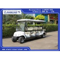 Quality Beach Tire  Battery Powered Electric Road Legal Golf Cart For 7 - 8 Person Adults for sale
