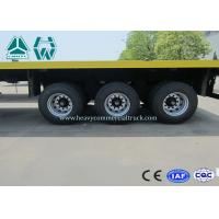 China 3 Axles 20 Ft / 40 Ft Container Flatbed Trailer For Cargo Transport on sale