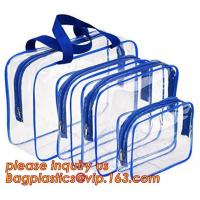 China waterproof hanging toiletry bag for travel, Vinyl Transparent PVC Cosmetic Bag /Clear Toiletry Bag/PVC Travel Makeup Bag on sale