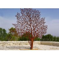 Quality Laser Cut Outdoor Metal Tree Sculpture Corrosion Stability Customized Size  for sale