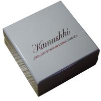 Quality Offwhite Varnish Paint Keepsake Gift Boxes Shining Red For Earing Display for sale