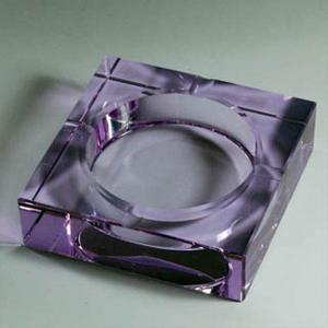 Quality custom purple square crystal cigarette ashtray for sale