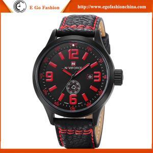 Quality Oversize Big Wristwatch Low MOQ China Watch Supplier Genuine Cow Leather Watch Sport Watch for sale