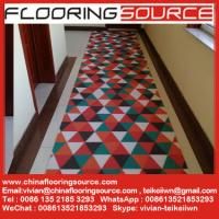 China PVC Loop Coil Printed Carpet Mat for entrance and wet areas use without back or foam back or firm back on sale