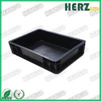 Quality Black Color Anti Static Storage Boxes Surface Resistance 103-109 Ohms for sale