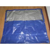 Quality blue/white canvas curtain with rope and grommets form Haicheng in FeiCheng for sale