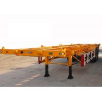Buy 30t Payload 2 Axles 40ft Skeleton Container Semi Trailer at wholesale prices