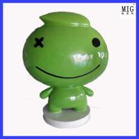 Quality customize company brand statues of fiberglass material  in hotel company outdoor exhibition decoration for sale