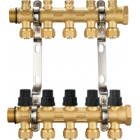 Quality 6201 Hot Forged Brass Water Distribution Manifolds up to 8 Branches w/ Concealed Supply Flowrate Tuning Heads & Top Caps for sale