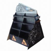 China Paper Floor Display Shelf, Customized Logo Printing, Colors and Designs are Accepted on sale