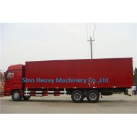 Buy 2 Axles Manual Low Bed Trailer / Two Single Red Lorry Trailer at wholesale prices