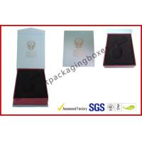 Quality High Definition PMS Color Printed Hot Stamping Electronics Packaging With Soft Velvet PS Tray for sale