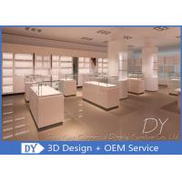Quality Cutom The Diamond Showcase Jewelry Store Display Cases For Retail Shop for sale