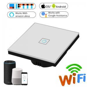 China EU Standard Wifi Light Switch Wall Switch Wireless Smart Switch 220v APP Control with Alexa/google home 1/2/3 Gang on sale