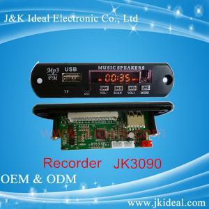 Quality JK3090 Audio mixer amplifier usb sd fm  recorder  MP3 module for sale