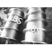 Quality High Performance Steel Wire Rope Drum , Fully Machined Lebus Grooved Drum for sale