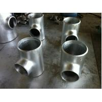 Quality 9.53mm Wall Thickness galvanized reducing tee , threeway steel pipe connector for sale