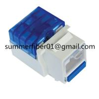 China Hot Sales Cat5e/Cat6 Keystone Jack with Blue Dust Cover on sale