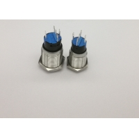 Quality Illuminated 16mm SS 5P 1NO1NC Metal Led Push Button Switch for sale