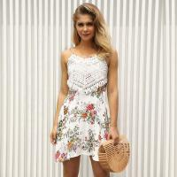 Buy cheap Floral Pattern Ladies Casual Dresses / Summer Sleeveless Print Dresses from wholesalers