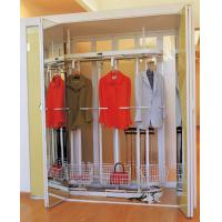 Quality Aluminum Frame Champagne Rotating Clothes Rack, 1900mm Height Revolving Metal Garment Rack for sale