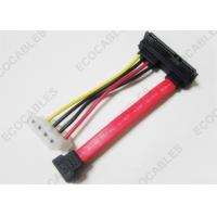 China Right Angle 90 Degree Signal Cable , 4Pin SATA Wire Cable Rohs Compliant on sale