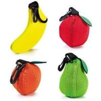 China Hop-selling Neoprene Fruit bag Fancy fruit pouch with hook Fruit sleeve Fruit holder on sale