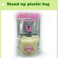Quality stand up storage bag with zipper/zipper plastic bag with clear window in different color for sale