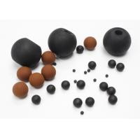 Quality Heat Resistant FKM Solid Rubber Ball For Screen Cleaning / Air Restriction for sale