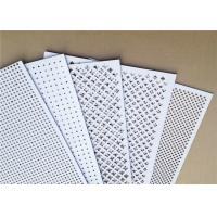 Quality Plastic Coated Perforated Aluminum Plate Custom Patterns Malleable Slotted Hole Shape for sale