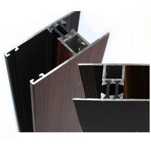 Industrial Wood Finish Aluminium Profiles For Polycarbonate Sheet