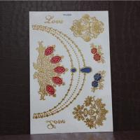 Quality 3D metallic gold and sivler foil temporary tattoo for sale
