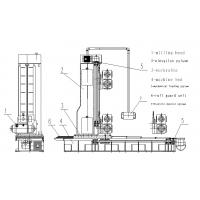 T - beam Box Beam Welding Production Line / End Face Milling Machine